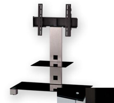 Sonorous PL2500BHBLK - Meuble pour ecran Plasma/LCD en verre et aluminium