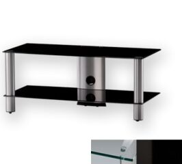 Sonorous LF6220CHBLK - Meuble pour ecran Plasma/LCD en verre et aluminium
