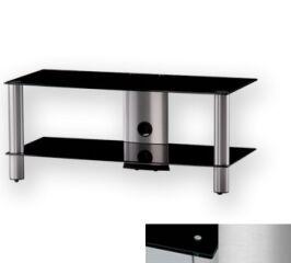 Sonorous LF6220BSLV - Meuble pour ecran Plasma/LCD en verre et aluminium