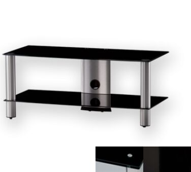 Sonorous LF6220BHBLK - Meuble pour ecran Plasma/LCD en verre et aluminium