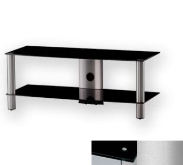 Sonorous LF6320BSLV - Meuble pour ecran Plasma/LCD en verre et aluminium