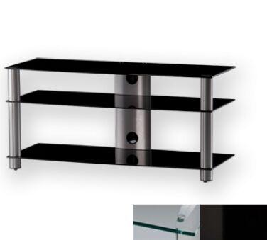 Sonorous LF6330CHBLK - Meuble pour ecran Plasma/LCD en verre et aluminium