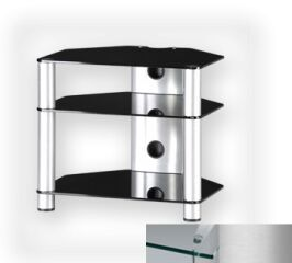 Sonorous RX2130CSLV - Meuble pour ecran Plasma/LCD en verre et aluminium