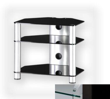 Sonorous RX2130CHBLK - Meuble pour ecran Plasma/LCD en verre et aluminium