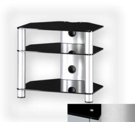 Sonorous RX2130BSLV - Meuble pour ecran Plasma/LCD en verre et aluminium