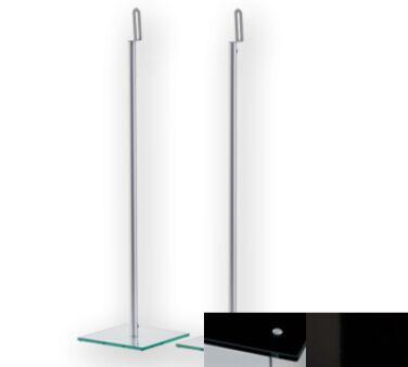 Sonorous SP200BHBLK - Meuble pour ecran Plasma/LCD en verre et aluminium