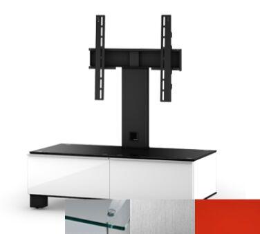 Sonorous MD8095CINXRED - Meuble pour ecran Plasma/LCD en verre et bois