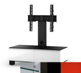 Sonorous MD8095CHBLKRED - Meuble pour ecran Plasma/LCD en verre et bois