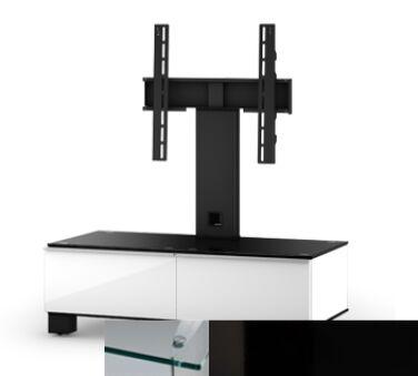 Sonorous MD8095CHBLKBLK - Meuble pour ecran Plasma/LCD en verre et bois
