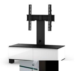 Sonorous MD8095CHBLKWHT - Meuble pour ecran Plasma/LCD en verre et bois