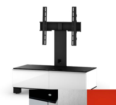 Sonorous MD8095BINXRED - Meuble pour ecran Plasma/LCD en verre et bois