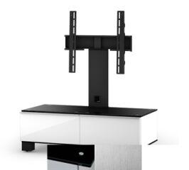 Sonorous MD8095BINXWHT - Meuble pour ecran Plasma/LCD en verre et bois