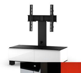 Sonorous MD8095BHBLKRED - Meuble pour ecran Plasma/LCD en verre et bois