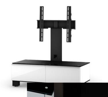 Sonorous MD8095BHBLKBLK - Meuble pour ecran Plasma/LCD en verre et bois