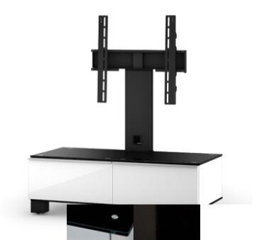 Sonorous MD8095BHBLKWHT - Meuble pour ecran Plasma/LCD en verre et bois