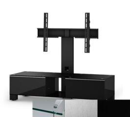 Sonorous MD8120CINXBLK - Meuble pour ecran Plasma/LCD en verre et bois