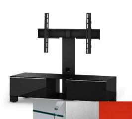 Sonorous MD8120CINXRED - Meuble pour ecran Plasma/LCD en verre et bois