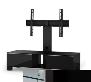 Sonorous MD8120CHBLKBLK - Meuble pour ecran Plasma/LCD en verre et bois