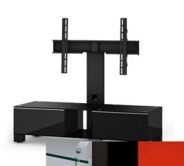 Sonorous MD8120CHBLKRED - Meuble pour ecran Plasma/LCD en verre et bois