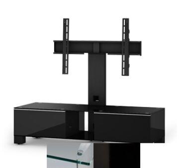 Sonorous MD8120CHBLKWHT - Meuble pour ecran Plasma/LCD en verre et bois