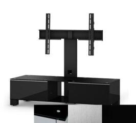 Sonorous MD8120BINXBLK - Meuble pour ecran Plasma/LCD en verre et bois