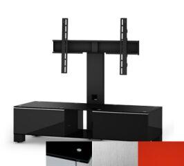Sonorous MD8120BINXRED - Meuble pour ecran Plasma/LCD en verre et bois