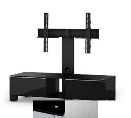 Sonorous MD8120BINXWHT - Meuble pour ecran Plasma/LCD en verre et bois