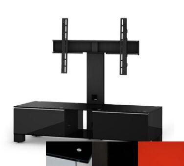 Sonorous MD8120BHBLKRED - Meuble pour ecran Plasma/LCD en verre et bois