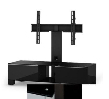 Sonorous MD8120BHBLKWHT - Meuble pour ecran Plasma/LCD en verre et bois