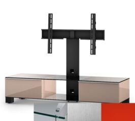 Sonorous MD8140CINXRED - Meuble pour ecran Plasma/LCD en verre et bois