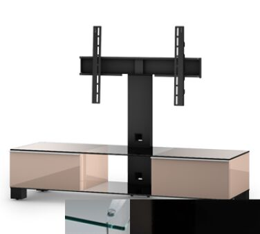 Sonorous MD8140CHBLKBLK - Meuble pour ecran Plasma/LCD en verre et bois