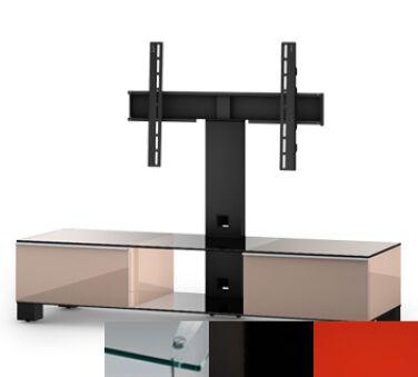 Sonorous MD8140CHBLKRED - Meuble pour ecran Plasma/LCD en verre et bois