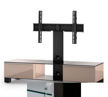 Sonorous MD8140CHBLKWHT - Meuble pour ecran Plasma/LCD en verre et bois