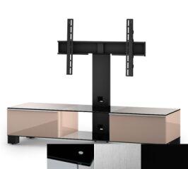 Sonorous MD8140BINXBLK - Meuble pour ecran Plasma/LCD en verre et bois