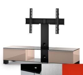 Sonorous MD8140BINXRED - Meuble pour ecran Plasma/LCD en verre et bois