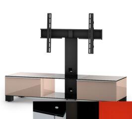 Sonorous MD8140BHBLKRED - Meuble pour ecran Plasma/LCD en verre et bois
