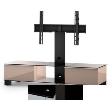 Sonorous MD8140BHBLKWHT - Meuble pour ecran Plasma/LCD en verre et bois