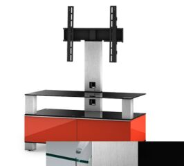 Sonorous MD8953CINXBLK - Meuble pour ecran Plasma/LCD en verre et bois
