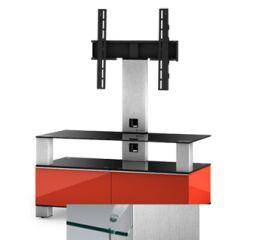 Sonorous MD8953CINXWHT - Meuble pour ecran Plasma/LCD en verre et bois