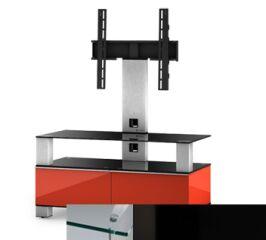 Sonorous MD8953CHBLKBLK - Meuble pour ecran Plasma/LCD en verre et bois