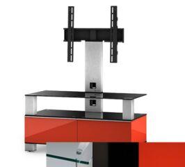 Sonorous MD8953CHBLKRED - Meuble pour ecran Plasma/LCD en verre et bois