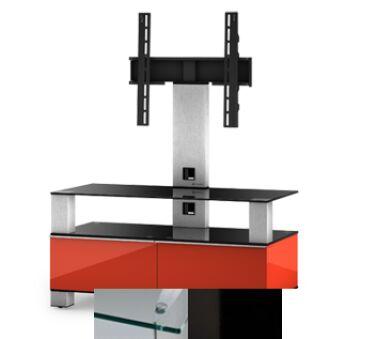 Sonorous MD8953CHBLKWHT - Meuble pour ecran Plasma/LCD en verre et bois