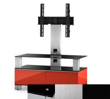 Sonorous MD8953BINXBLK - Meuble pour ecran Plasma/LCD en verre et bois