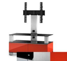 Sonorous MD8953BINXRED - Meuble pour ecran Plasma/LCD en verre et bois