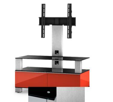 Sonorous MD8953BINXWHT - Meuble pour ecran Plasma/LCD en verre et bois