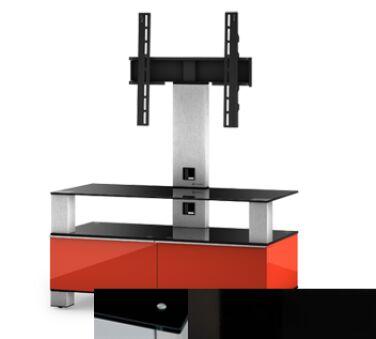 Sonorous MD8953BHBLKBLK - Meuble pour ecran Plasma/LCD en verre et bois