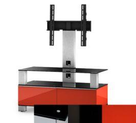 Sonorous MD8953BHBLKRED - Meuble pour ecran Plasma/LCD en verre et bois
