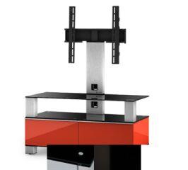 Sonorous MD8953BHBLKWHT - Meuble pour ecran Plasma/LCD en verre et bois