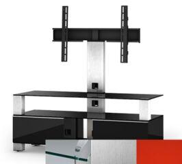 Sonorous MD8123CINXRED - Meuble pour ecran Plasma/LCD en verre et bois