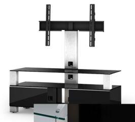 Sonorous MD8123CHBLKBLK - Meuble pour ecran Plasma/LCD en verre et bois